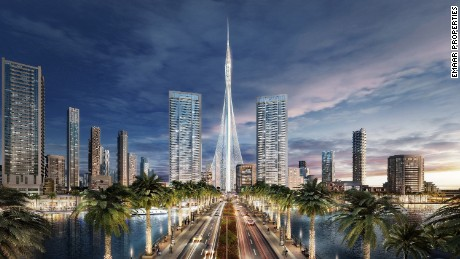 The Tower will be the heart of Dubai Creek Harbour, one of the largest tourist and lifestyle developments in the world stretching across 2.3 square miles (6 sqkm).