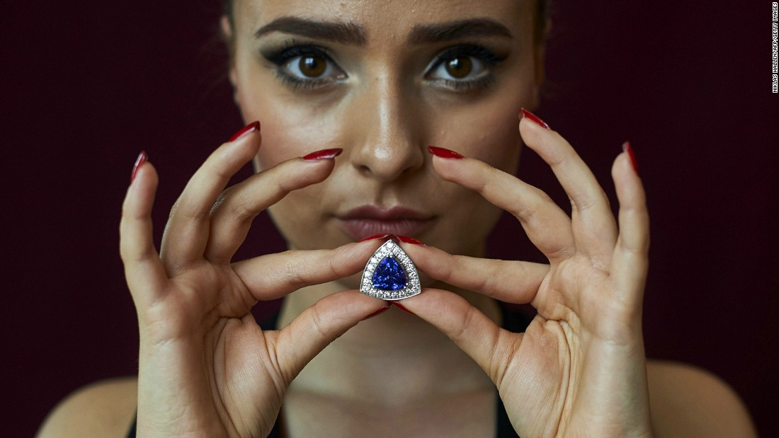 A tanzanite and diamond ring part of the David Jerome Collection, valued at between $60,000-70,000 at an auction in London in 2015.