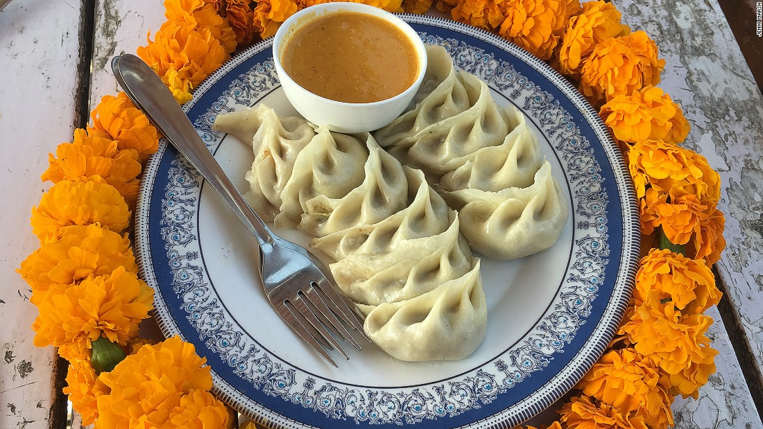 Steamed dumplings are one of Nepal's most famous offerings. These half-fried, half-steamed momos contain buffalo meat.