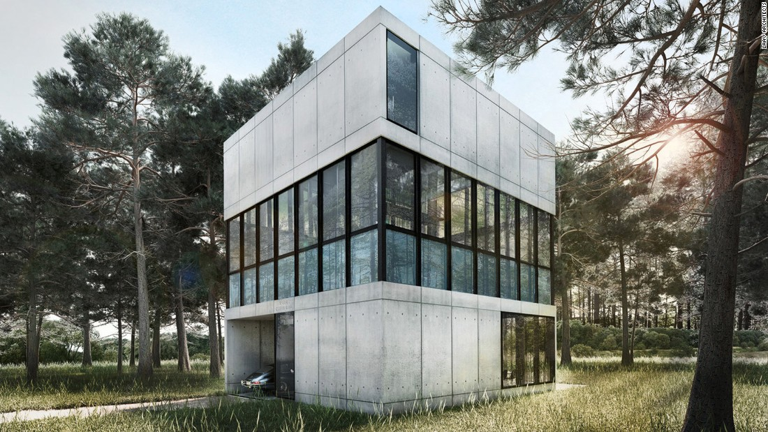 "<a href=""http://www.laav.nl/#/villa-clessidra/"" target=""_blank"">Villa Clessidra</a> is Vassiliou's newest project above ground. This 3-level cubic house is made of a steel frame and bare concrete that accentuates the use of glass, water, and mirrors in the middle. ""I like simple things and honest materials like light and water. I like reflections."""