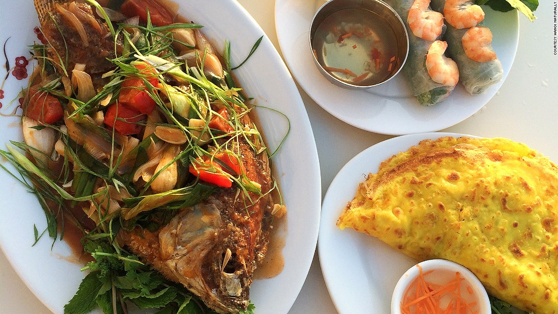 Abu Dhabi isn't the most obvious destination for authentic Vietnamese food. Hanoi Naturally, however, serves up just that. We recommend the Cha Ca La Vong, a Hanoi style turmeric fish fillet served with dill and peanuts.