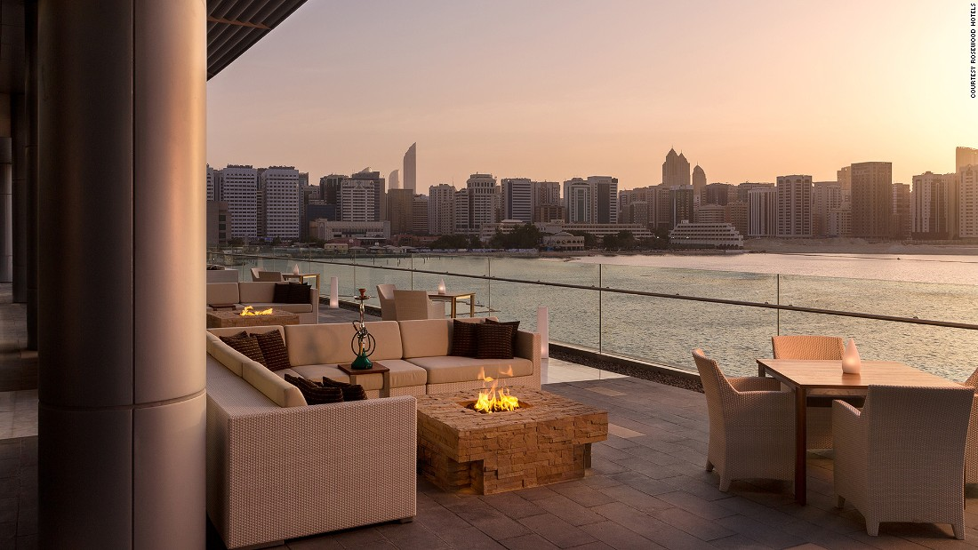 The Lebanese establishment stands out from the rest in the city with some of the most scenic tables -- offering beautiful views of Abu Dhabi Island.