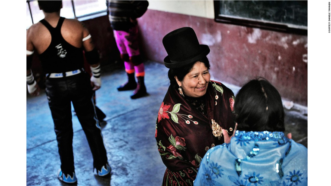 """It's something different than the traditional wrestling, something more real, in which (every cholita) has a role and a part. Carmen Rosa is the leader, the best one,"" Tamagni said."