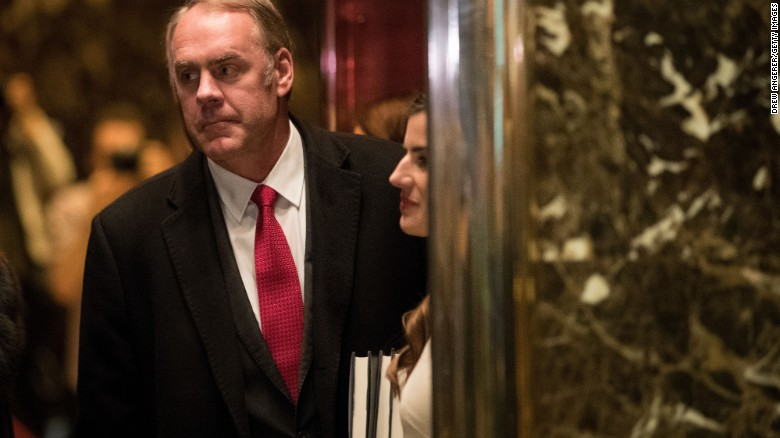 Source: Ryan Zinke pick for Interior secretary