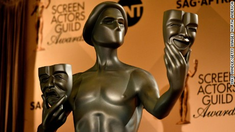 WEST HOLLYWOOD, CA - DECEMBER 14:  A Screen Actors Guild Award Statue is displayed during the 23rd Annual SAG Award Nominations Announcement at Silver Screen Theater on December 14, 2016 in West Hollywood, California.  NUP_176104_0159.JPG  (Photo by Mike Windle/Getty Images for Turner)