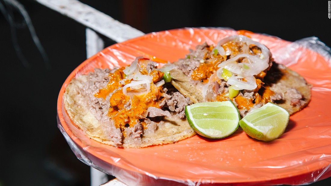 Their specialty, taco Manolo, melds chopped steak with bacon and flecks of caramelized onion. It can be ordered on corn tortillas or pan árabe, a flat wheat bread brought by Lebanese immigrants.