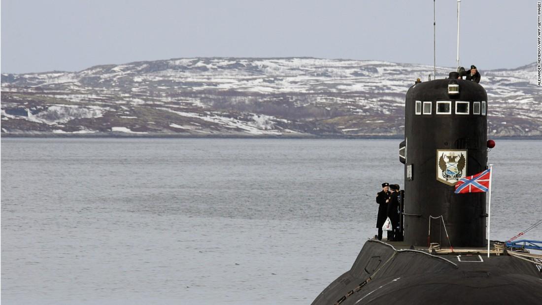 A Russian Kilo-class submarine.