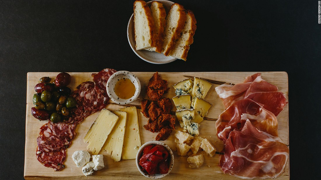 Bellina Alimentari's Italian meat and cheese plate is enough for lunch or dinner.