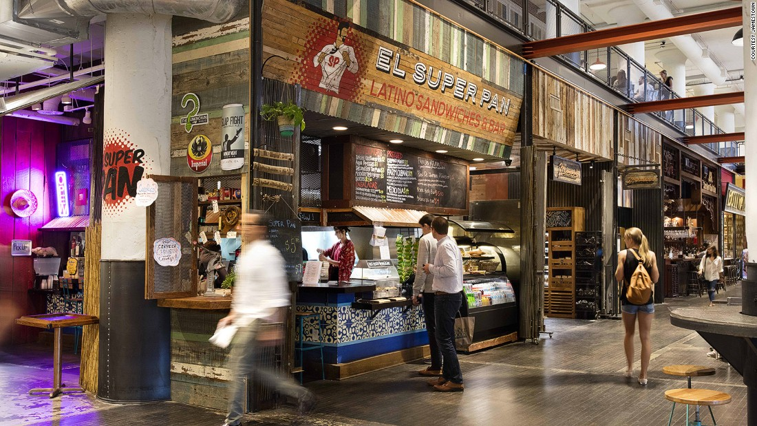 <strong>Ponce City Market -- </strong>Ponce City Market's food hall features smaller offerings from many of the city's best chefs, including Guy Wong's Ton Ton, Hector Santiago's El Super Pan, Anne Quatrano's W.H. Stiles Fish Camp and Linton Hopkins' H&F Burger and Hop's Chicken.
