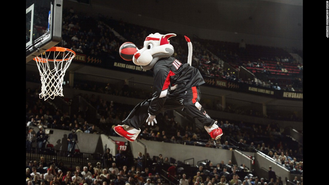 Blaze is another of the NBA's high-flying mascots.