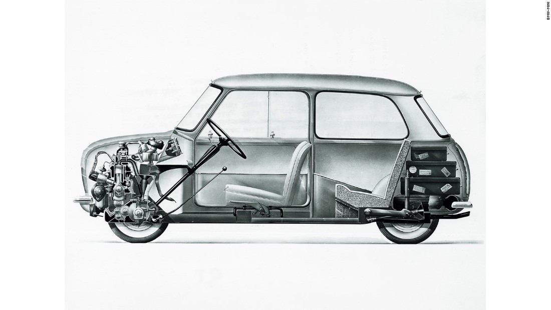 The Mini made its debut in 1959, showcasing some extremely clever packaging that allowed this tiny vehicle to accommodate four adults.