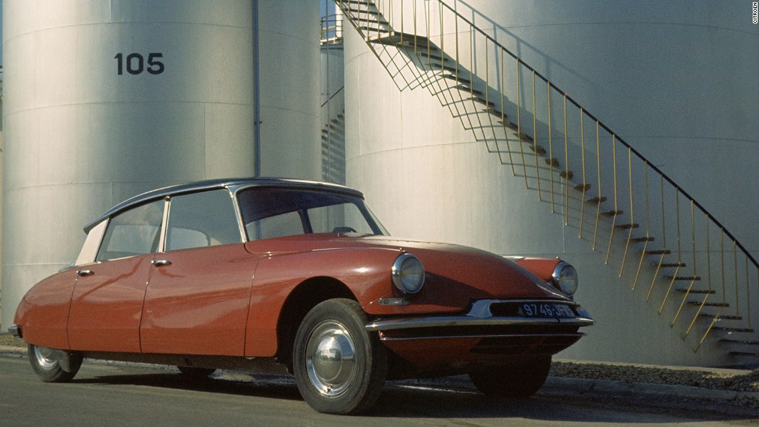 The Citroen DS looked like a car from the 1970s when it was revealed in 1955. It had several innovations, including disc brakes.