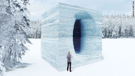 Anish Kapoor's design for Stackhouse, a warming hut in Canada
