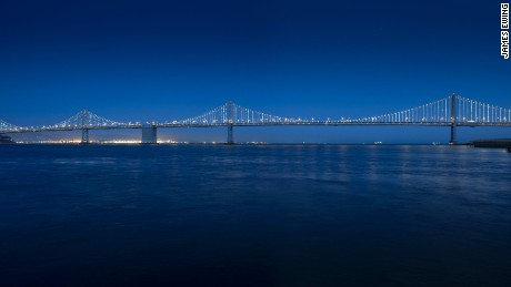 Artist Leo Villareal, who recently won the Illuminated River design contest, is also behind The Bay Lights installation on San Francisco's Bay Bridge.