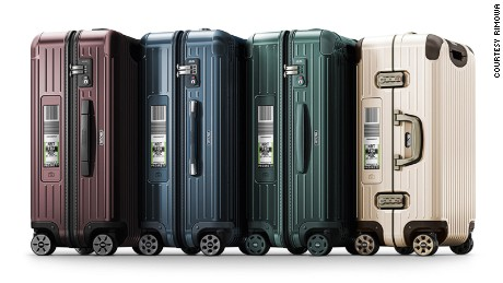 Electronic tag team: The Rimowa range.