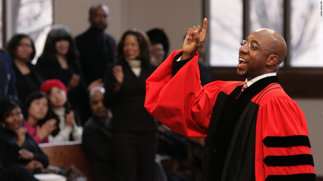 The Rev. Raphael Warnock serves as senior pastor at Ebenezer Baptist Church, where the congregation was once led by the late Dr. Martin Luther King, Jr. Click through the gallery to see more of the city's living civil rights experiences.