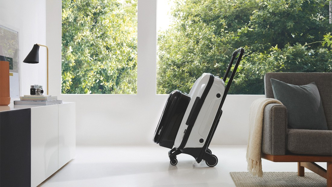 "Bugaboo's ""fully loaded"" Boxer option, including hardshell carry-on and check-in cases on a trolley, retails for about $1,500."