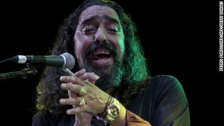 "Spanish singer Diego El Cigala performs during a concert in the ""La Nao Festival 2014"" at Fuerte de San Diego (San Diego Fort), in Acapulco, Guerrero State, Mexico, on October 27, 2014. AFP PHOTO/Pedro PARDO        (Photo credit should read Pedro PARDO/AFP/Getty Images)"
