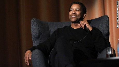 "Denzel Washington attends a ""Fences"" event on December 12 in London."