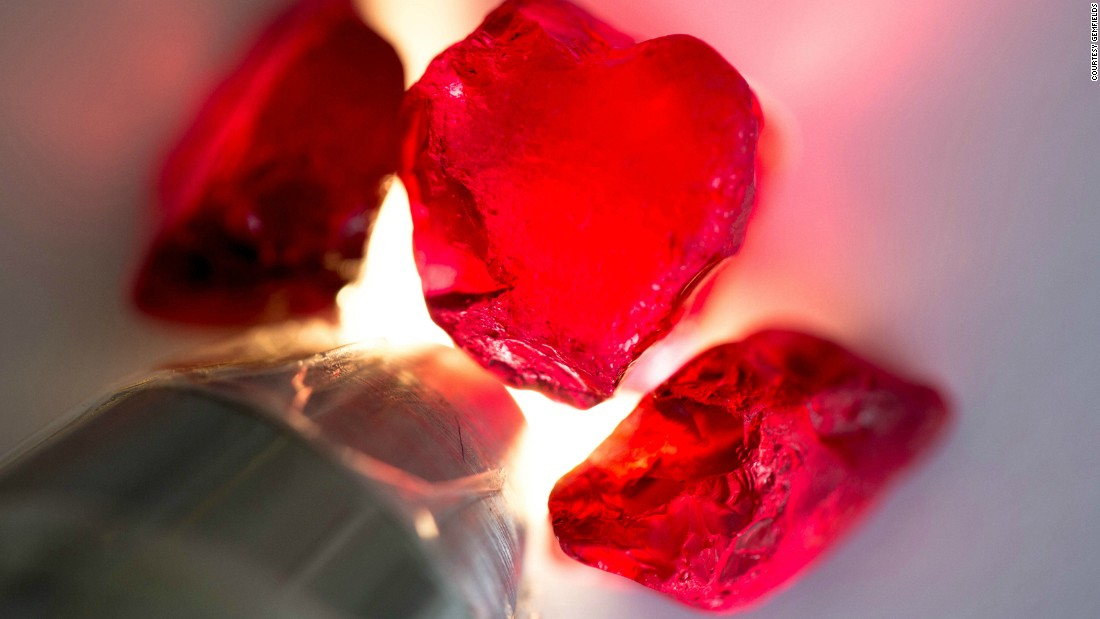 The shade of a ruby may vary depending on its country of origin and some experts consider the highest quality Mozambican ruby to be comparable to that of Myanmar, which is sometimes described as having the color of pigeon blood.