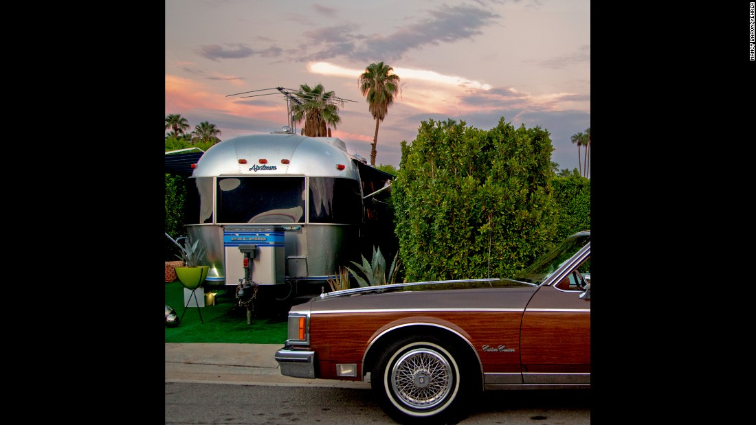 Airstream Sunset. The city's unique architecture with vibrant colors make it an internationally-recognized resort town, but it's a place many call home. And many of those residents are mid-century modern style enthusiasts. Recently, Baron turned her camera on this tight-knit community where mid-century modern homes, vintage cars and clothes abound.