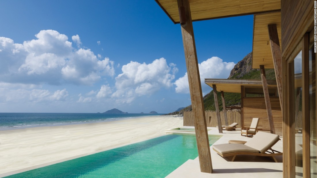 This is the view guests sleeping in Six Senses Con Dao's ocean front pool villa get to wake up to.