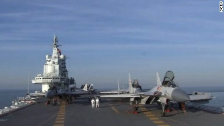 This is the first time that Chinese state media has broadcast detailed footage of the Liaoning carrier's drills.