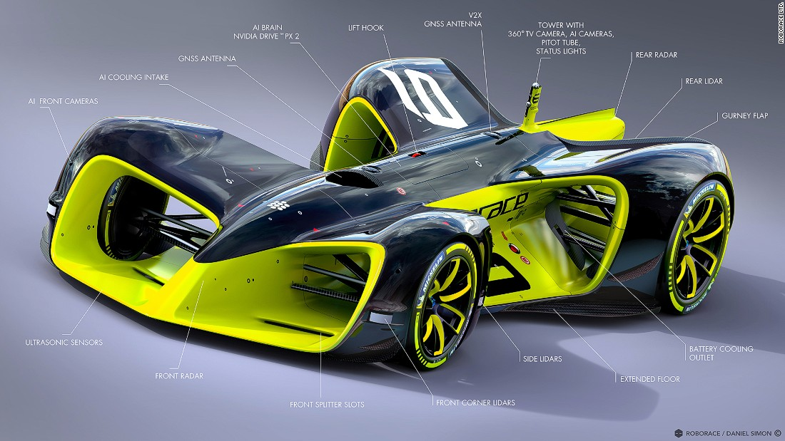 "The ""Roborace"" series is scheduled to start in 2017 and will see 10 autonomous cars all competing on the same track."