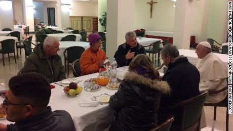 Pope eats with homeless on 80th birthday, gets 70000 emails
