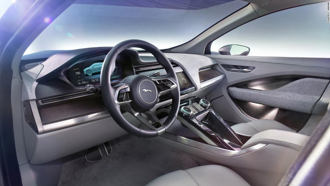 Two electric motors will give the I-Pace a positively explosive 395bhp and 516lb/ft of torque, while the lack of engine up front has allowed Jaguar to be clever with the overall design, resulting in a more refined interior space.