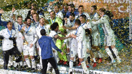 Real Madrid players are in high spirits after adding another trophy to their growing recent haul.