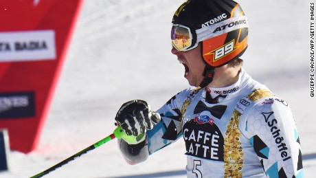 World Cup: Marcel Hirscher matches skiing great Alberto Tomba at Alta Badia