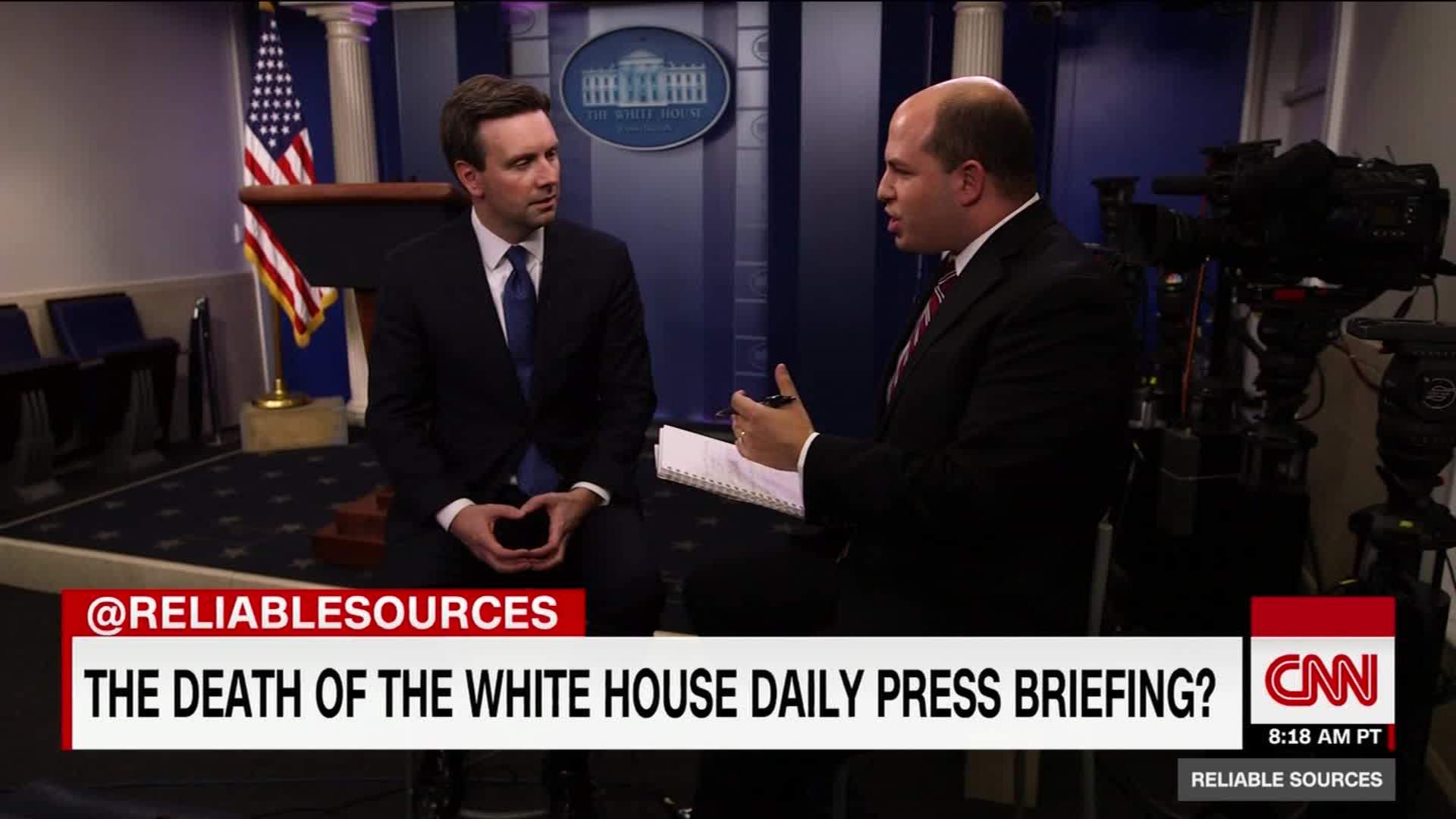outgoing press secretary talks trump, access - cnn video