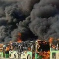 Aleppo Bus Burning 1218