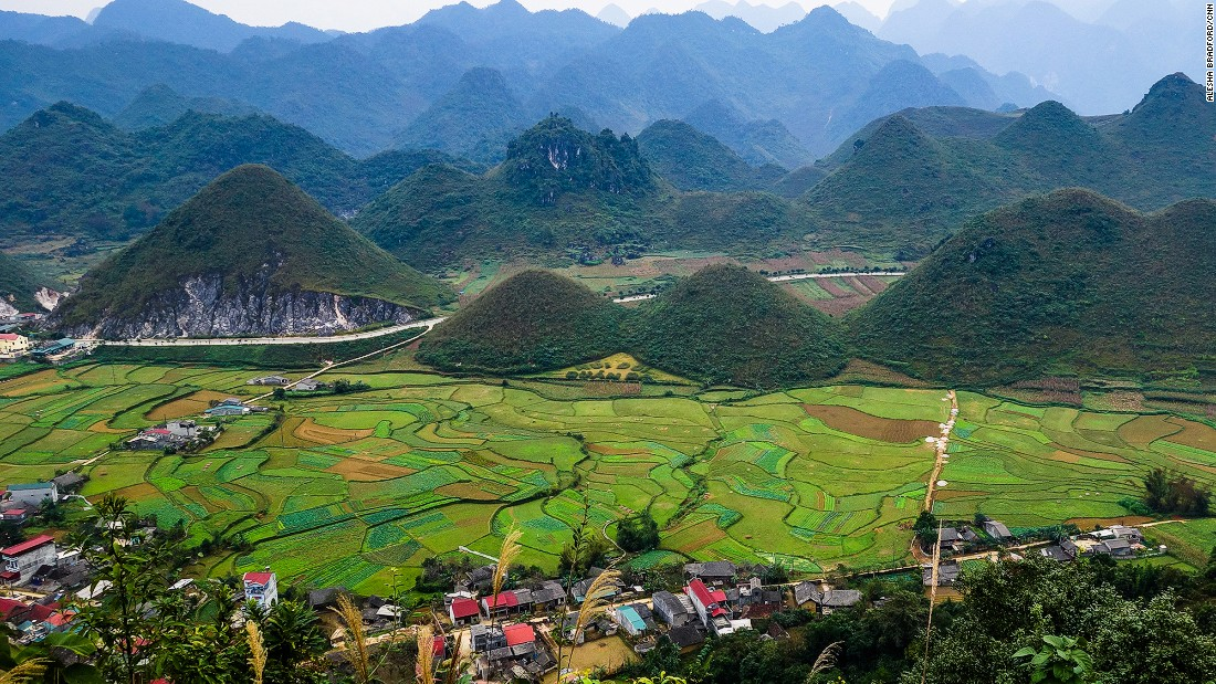 The beehive-like karsts in Tam Son are known as the Fairy Bosoms. Unique scenery like this makes northern Vietnam so appealing.