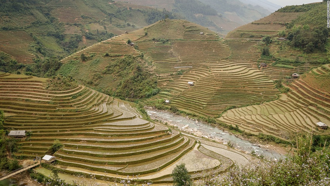 The road from Than Uyen to Nghia Lo is lined with terraced rice fields that are carved into every acre of arable land. Few tourists ever make it to this part of Vietnam, meaning that motorcyclists make up the majority of visitors.