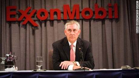 DALLAS - MAY 28: ExxonMobil Chairman Rex Tillerson speaks at a press conference after the ExxonMobil annual shareholders meeting at the Morton H. Meyerson Symphony Center May 28, 2008 in Dallas, Texas. A total of 19 resolutions were voted on today by shareholders. (Photo by Brian Harkin/Getty Images)