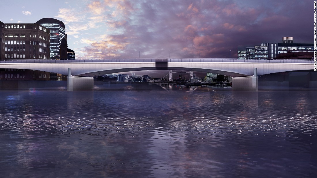 "Designed by Diller Scofidio + Renfro, ""Synchronizing the City"" aimed to highlight the natural cycles of the river throughout the day.  The concept will culminate in the ""Magic Hour"", when the bridges will seem to fill with light as evening sets in."