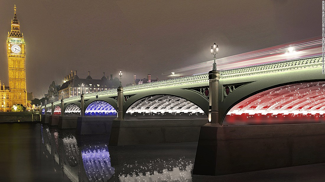 The proposal would also light up the underside of London's bridges.
