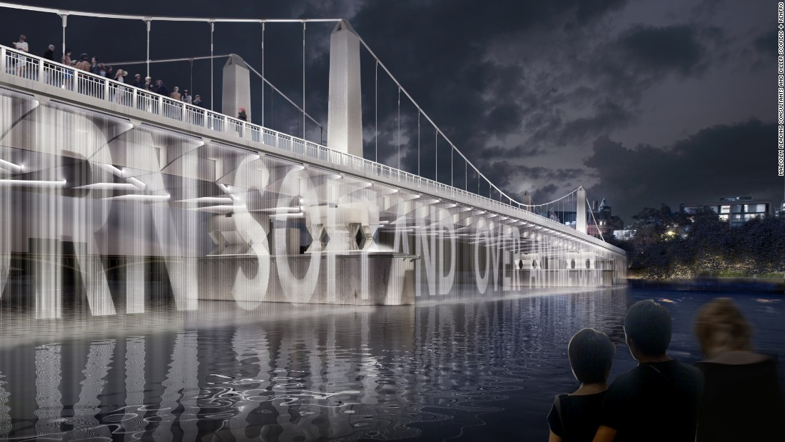 The Chelsea Bridge would be able to display public messages.