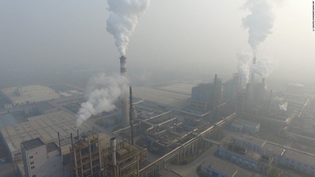 Smoke rises from a Tianjin factory on December 18.