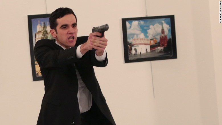 Graphic video: Russian ambassador shot