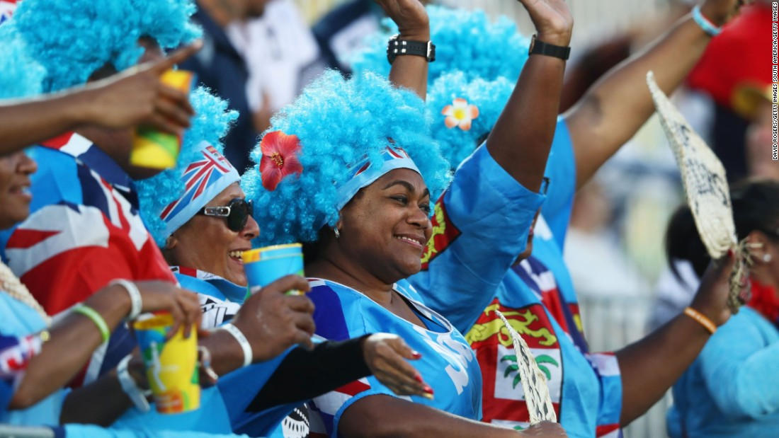 Fiji enjoyed strong support in Brazil during the Olympics.