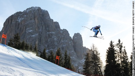 VAL GARDENA, ITALY - DECEMBER 17: Jeffrey Frisch of Canada competes during the Audi FIS Alpine Ski World Cup Men's Downhill on December 17, 2016 in Val Gardena, Italy (Photo by Alexis Boichard/Agence Zoom/Getty Images)