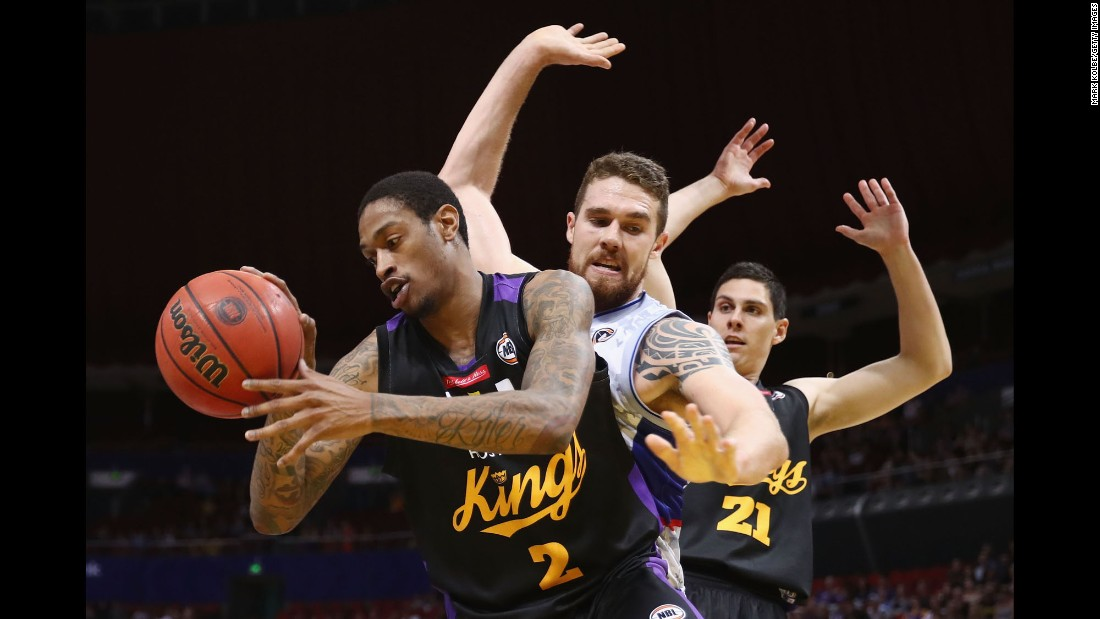 Greg Whittington collects a rebound for the Sydney Kings during an NBL game against Adelaide on Sunday, December 18.