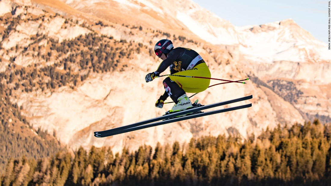 "Erik Guay soars through the Val Gardena sky when the World Cup went to Italy in December. The Canadian <a href=""http://cnn.com/2017/02/08/sport/is-35-the-new-25/index.html"" target=""_blank"">became skiing's oldest world champion</a> in February."