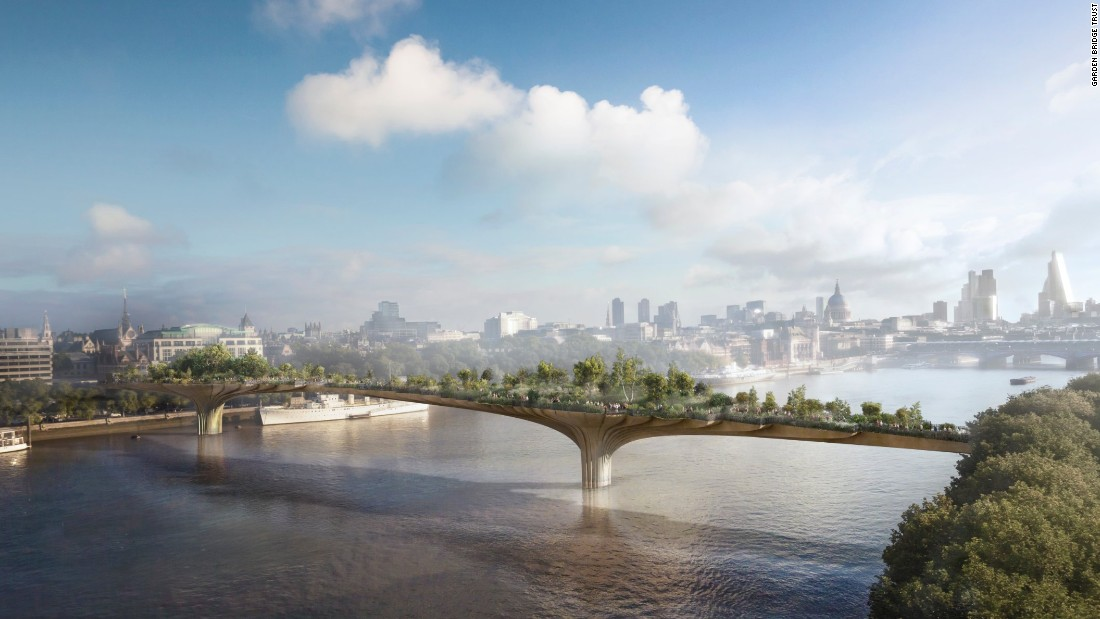 The Thames Garden Bridge  is a proposed pedestrian bridge over the River Thames in London designed by Thomas Heatherwick and Arup Group.