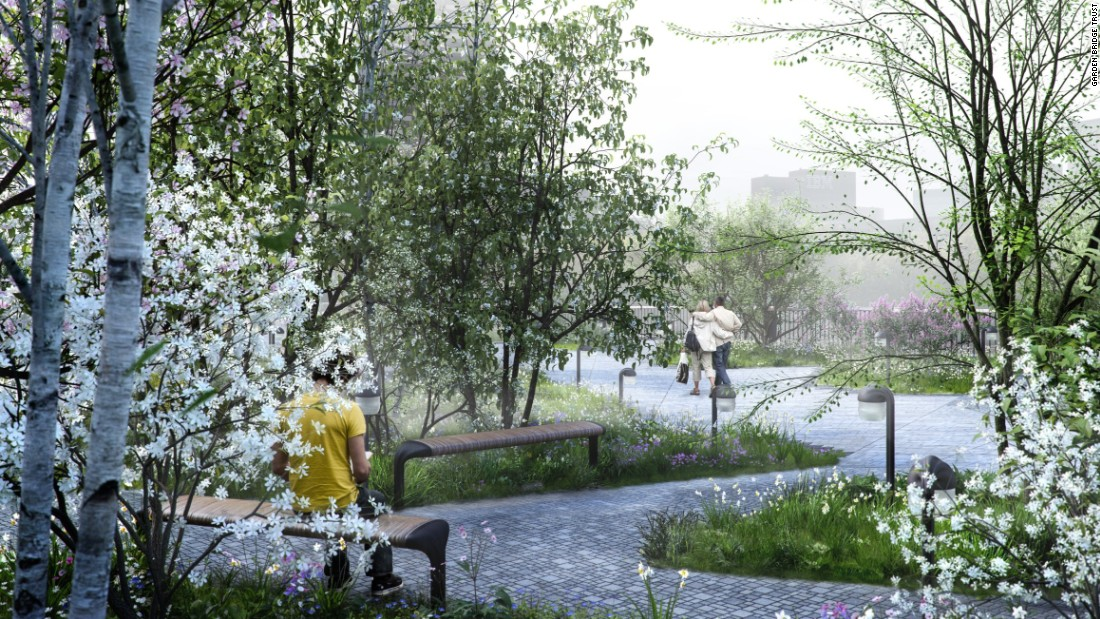 Public spaces like the proposed Thames Garden Bridge provide new ways of seeing and experiencing the city with associated knock-on public interest and/or commercial benefits.