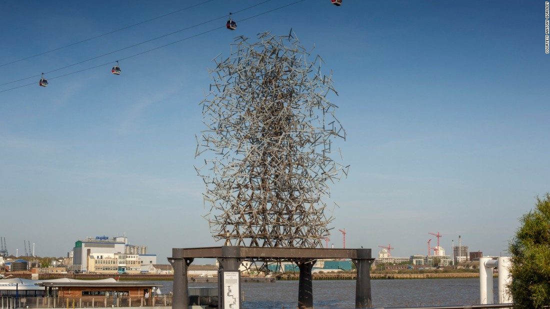 "In London, crowd funding is being used to finance innovative public spaces projects such as The Line art walk along the River Lee. ""Quantum Cloud"" by Antony Gormley (pictured above) was commissioned for the North Meadow Sculpture Project in celebration of the millennium. Evoking the quantum age, and suggesting an unstable relation between energy and mass, it questions whether the body is produced by the field or the field by the body."