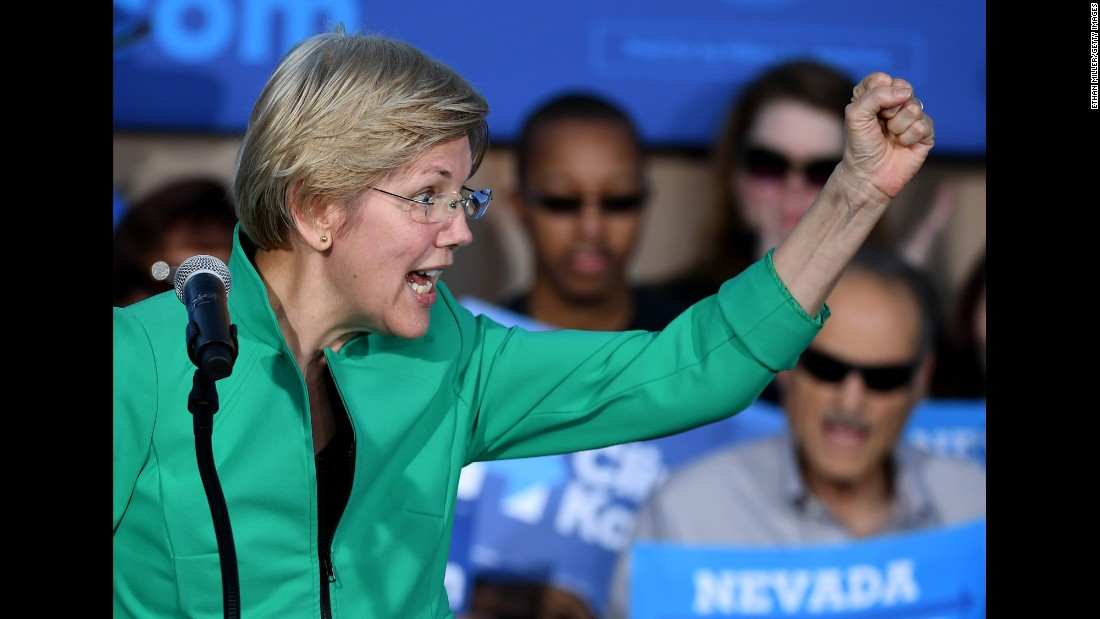 US Sen. Elizabeth Warren also got a vice-presidential vote in Washington.